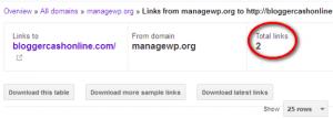 PR 3 backlink webmasters tool report